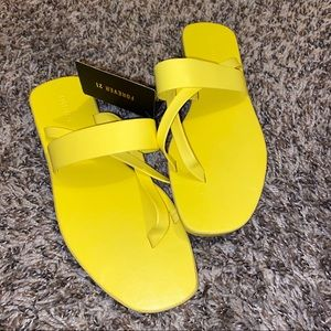 Yellow strapy sandals